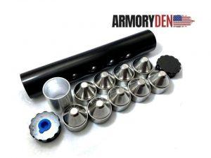 "Sealed End Cap For 10"" Aluminum 1.75"" OD Tube Solvent Trap"